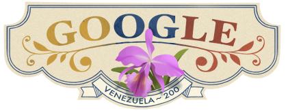 Google Logo: 2011 Cinco de julio - Venezuela Independence Day