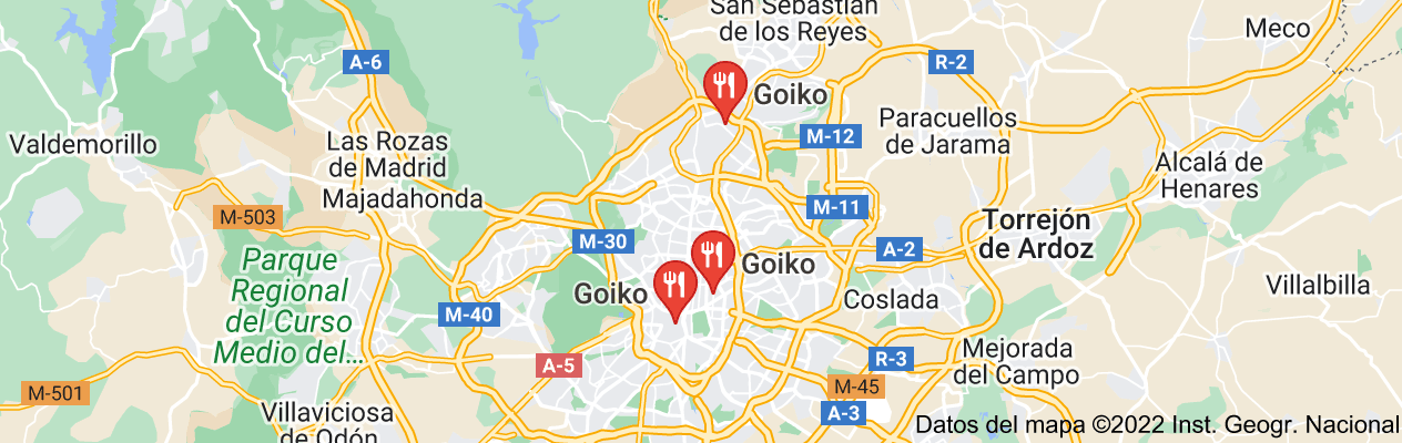 "Mapa de ""Goiko Grill"""